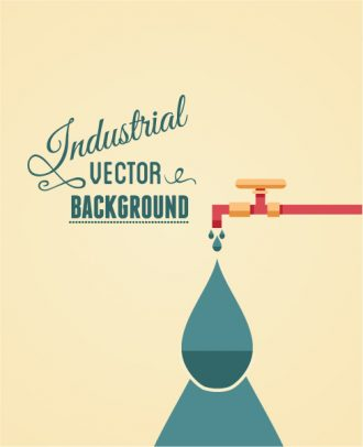 Vector illustration with minimal pipe Vector Illustrations vector