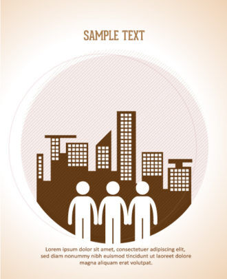 Vector illustration with people icon Vector Illustrations city