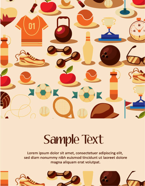 Vector illustration with sport elements Vector Illustrations vector