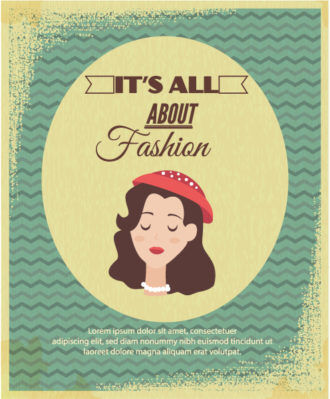 Vector illustration with fashion typography  woman head Vector Illustrations vector
