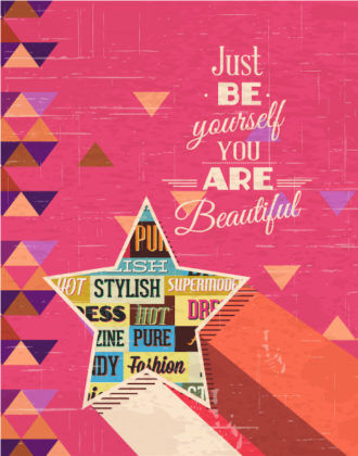 Vector illustration with fashion elements and star Vector Illustrations vector