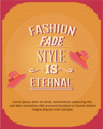Vector illustration with fashion elements Vector Illustrations vector