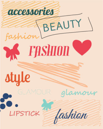 Vector illustration with fashion doodle elements Vector Illustrations vector