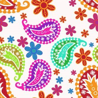 vector seamless pattern with floral Vector Illustrations floral