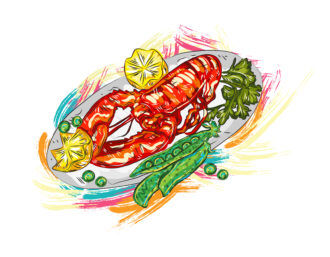cooked food vector  illustration Vector Illustrations vector