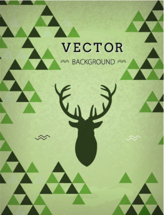 Vector background illustration with hipster deer head Vector Illustrations urban