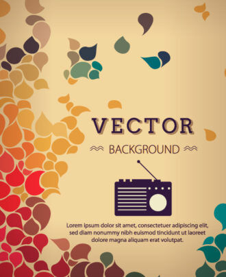 Vector background illustration with hipster radio Vector Illustrations urban