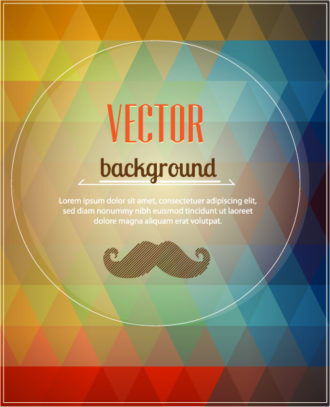 Vector background illustration with hipster moustache Vector Illustrations urban