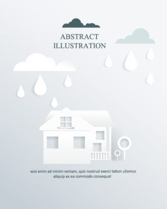 3D abstract vector illustration Vector Illustrations urban