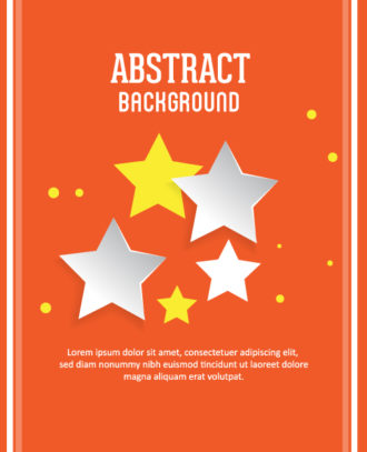 3D abstract vector illustration with stars Vector Illustrations urban