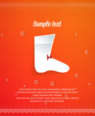 3D abstract vector illustration with christmas socks Vector Illustrations tree
