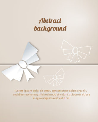 3D abstract vector illustration with christmas bow Vector Illustrations urban