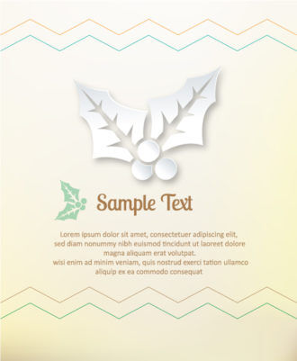 3D abstract vector illustration with christmas elements Vector Illustrations urban