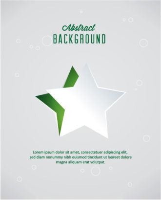 3D abstract vector illustration with christmas star Vector Illustrations star