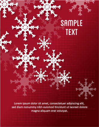 3D abstract vector illustration with christmas snowflake Vector Illustrations urban