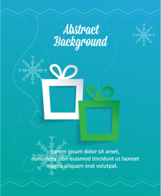 3D abstract vector illustration with christmas gift Vector Illustrations urban