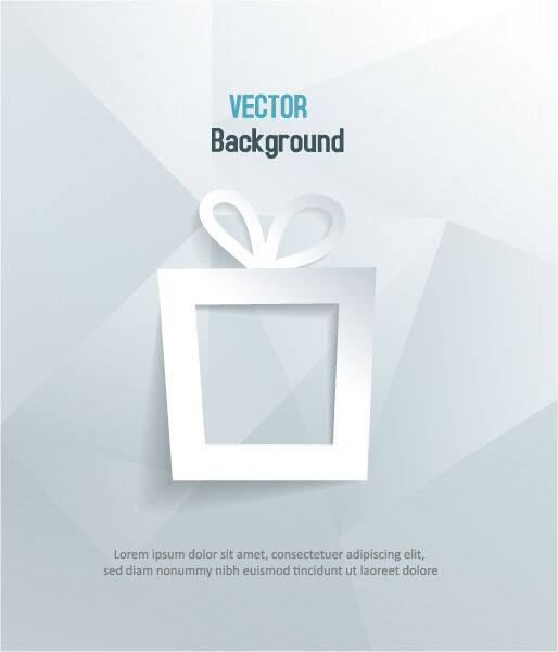 3D abstract vector illustration with gift Vector Illustrations urban