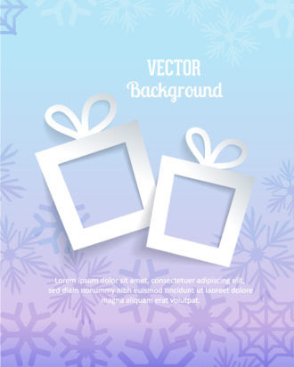 3D abstract vector illustration with gift and snowflakes Vector Illustrations urban