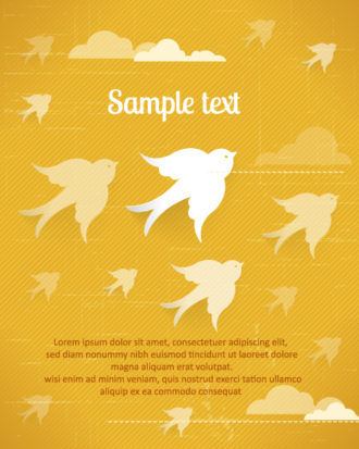 3D abstract vector illustration with birds Vector Illustrations urban