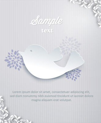 3D abstract vector illustration with bird and flower Vector Illustrations urban