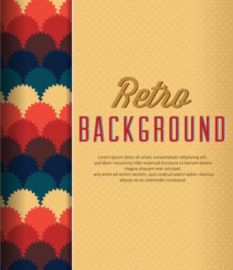 retro vector floral background Vector Illustrations summer