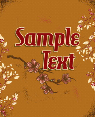 retro vector floral background with retro text, spring flowers Vector Illustrations summer