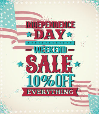 fourth of july vector illustration with usa flag Vector Illustrations star