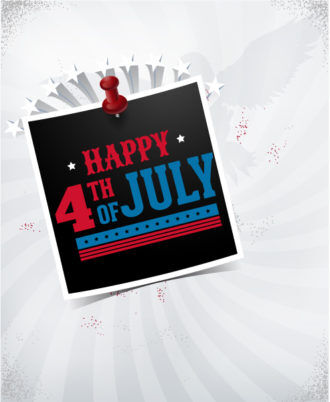 fourth of july vector illustration with photo frame Vector Illustrations star