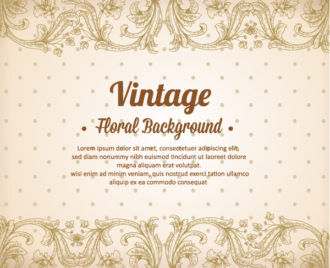 vintage vector illustration with spring flowers Vector Illustrations old