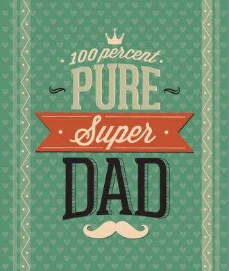 Father's Day vector illustration with vintage retro type font, Vector Illustrations old