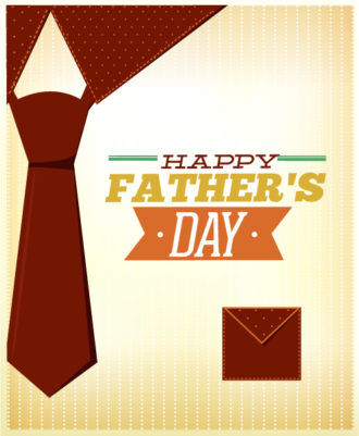 Father's Day vector illustration with vintage retro type font, tie, Vector Illustrations old