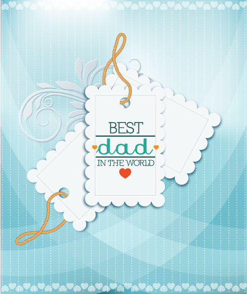 Father's Day vector illustration with vintage retro type font,sticker tag Vector Illustrations old