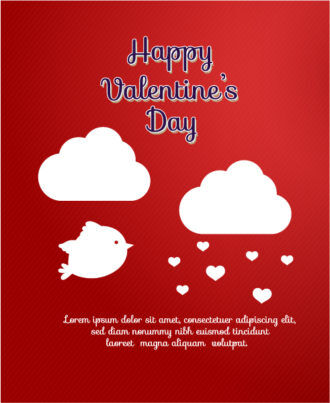 Valentine's Day Vector illustration with heart and birds Vector Illustrations vector