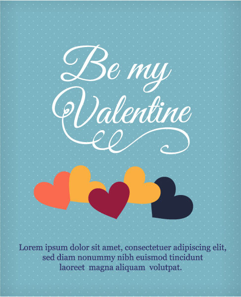 Happy  Valentine's Day Vector illustration with heart Vector Illustrations vector