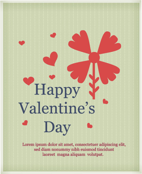 Happy  Valentine's Day Vector illustration with flower Vector Illustrations vector