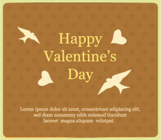 Happy  Valentine's Day Vector illustration with bird and heart Vector Illustrations vector
