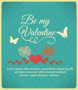 Happy  Valentine's Day Vector illustration with  butterflies and heart Vector Illustrations vector
