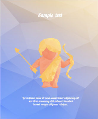 Vector Illustration with abstract background with cupid Vector Illustrations vector