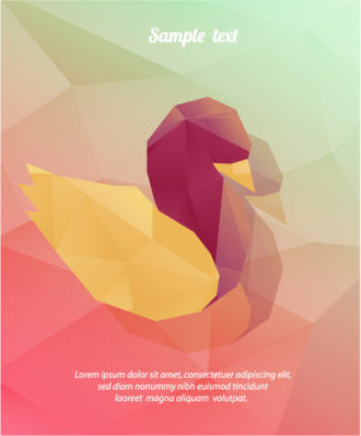 Vector Illustration with abstract background with bird Vector Illustrations vector