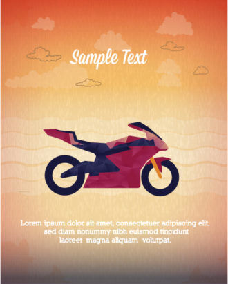 Vector Illustration with abstract background with motorcycle Vector Illustrations vector