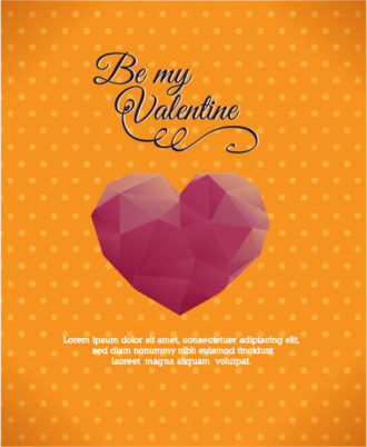 Vector Illustration with abstract background with heart Vector Illustrations vector