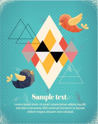 Vector Illustration with abstract background with abstract elements Vector Illustrations vector