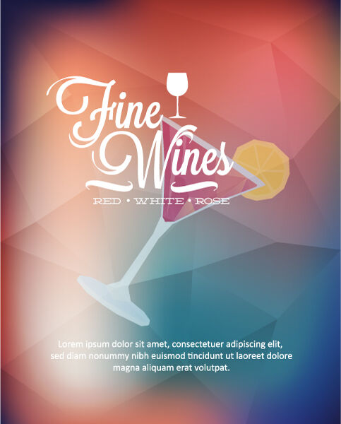 Vector Illustration with abstract background with wine glass Vector Illustrations glass