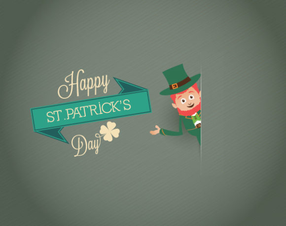 St. Patrick's day vector illustration with leprechaun and ribbon Vector Illustrations vector