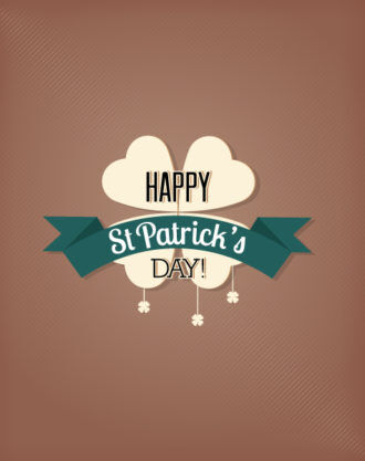 St. Patrick's day vector illustration with clover Vector Illustrations vector