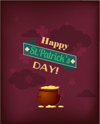 St. Patrick's day vector illustration with pot and ribbon Vector Illustrations vector