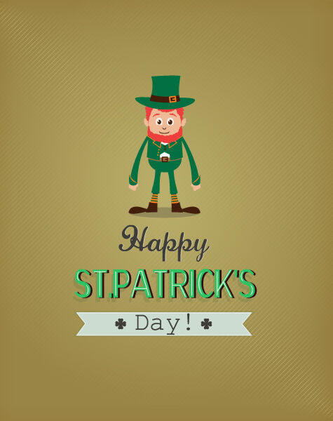 St. Patrick's day vector illustration with leprechaun Vector Illustrations vector