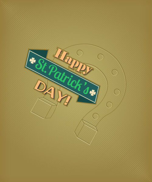 St. Patrick's day vector illustration with horse shoes Vector Illustrations vector