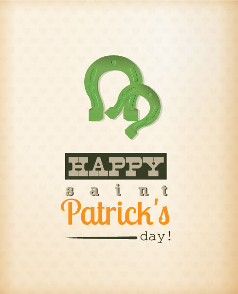 St. Patrick's day vector illustration with horse shoes Vector Illustrations floral