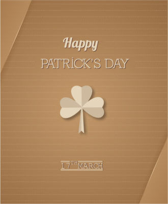 St. Patrick's day vector illustration with clover Vector Illustrations floral